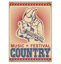 American music festival background with musician vector image