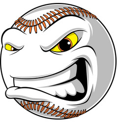 Angry ball for baseball vector