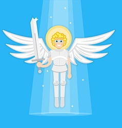 Archangel with sword vector image