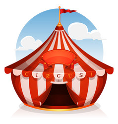 big top circus with banner vector image