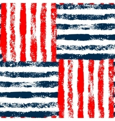 Blue red and white striped woven grunge seamless vector image