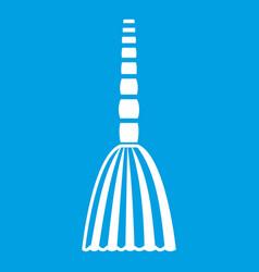 Broom floor icon white vector