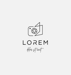 Camera book logo template design sign vector