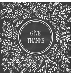 Card for Thanksgiving Day on the blackboard vector image