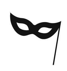 Carnival mask logo design vector