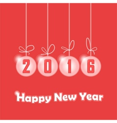Christmas decorations with 2016 year inscription vector image
