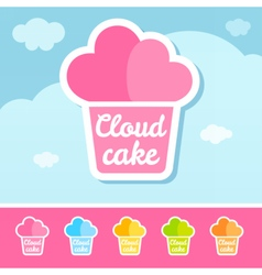 Cloud cake logo vector