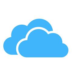 cloud computing logo design icon concept vector image