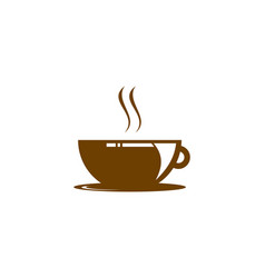 coffee shop logo icon template design vector image
