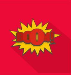 comic boom big icon flat style vector image