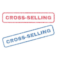 Cross-selling textile stamps vector