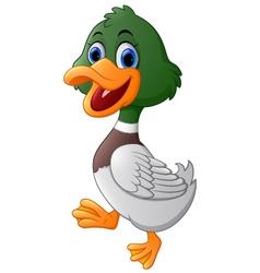Cute duck cartoon vector