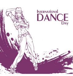 Dance day street dance vector