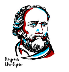 diogenes the cynic portrait vector image