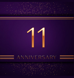 Eleven years anniversary celebration design banner vector