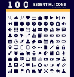 Essential webapp icons vector