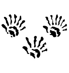 Extra fingers hand prints vector