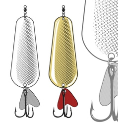 Fishing spoon - artificial fishing lure vector