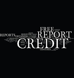 Free credit report and score how to receive a vector