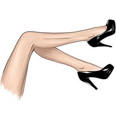 girls in high heels fashion vector image