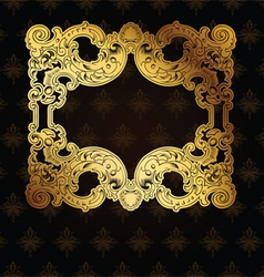 Gold Frame On Brown vector