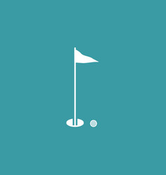 golf icon simple game element play symbol design vector image