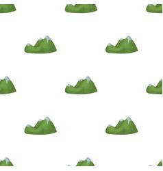 Green mountainsmountain range covered with dense vector