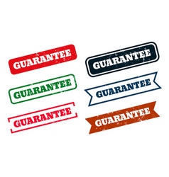 guarantee grunge distressed rubber stamps set of vector image
