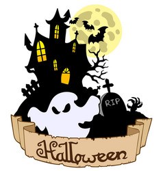 Halloween theme with ghost vector