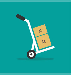 hand truck graphic design template vector image