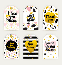 happy mothers day trendy gift labels vector image