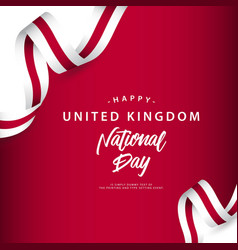 Happy united kingdom national day template design vector