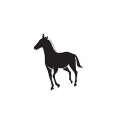 horse logo template black vector image