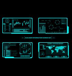Hud futuristic elements screen interface control vector