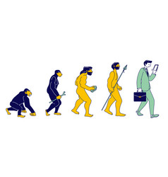 human evolution monkey to modern business man vector image
