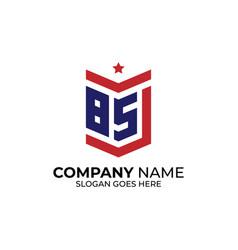 Initial letter bs logo design alphabet b vector