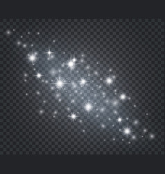 light effect glowing star dust sun flashes with vector image