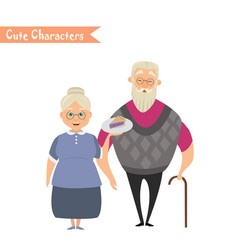 lovely elderly couple vector image