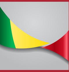 Malian wavy flag vector