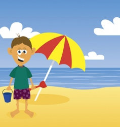 man at beach vector image