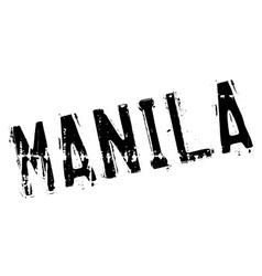 Manila stamp rubber grunge vector
