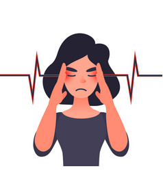migraine health problems and pain head vector image