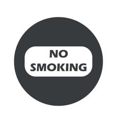 Monochrome round No Smoking icon vector