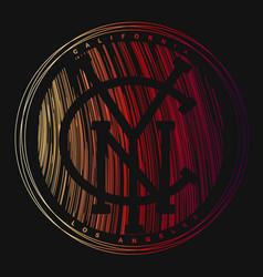 new york city typography tee print design vector image