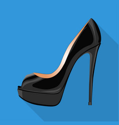 peep toe pump woman shoes flat isolated icon vector image