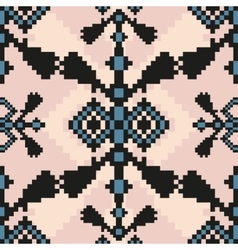 pixel ethnic seamless pattern ideal vector image