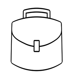 portfolio suitcase business icon line vector image