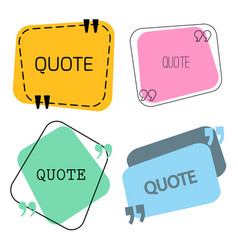 quotes frame and sign set vector image