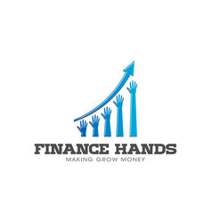 rising hands in business bar profit vector image