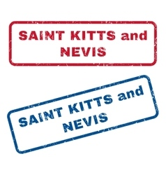 Saint Kitts and Nevis Rubber Stamps vector